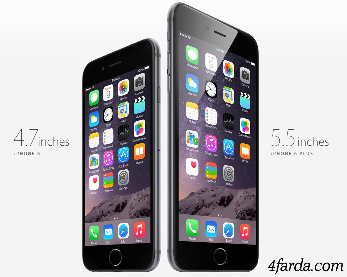 آیفون,آیفون 6,آیفون 6 پلاس,اپل,iphone 6,iphone 6 plus,صفحه نمایش,باتری,قیمت,دوربین,رزولوشن,