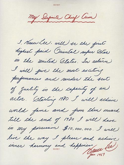 Bruce Lee Letter