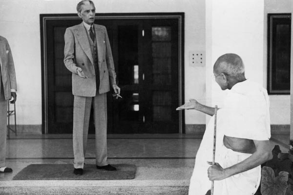 Mahatma Gandhi and Muhammad Ali Zinnah