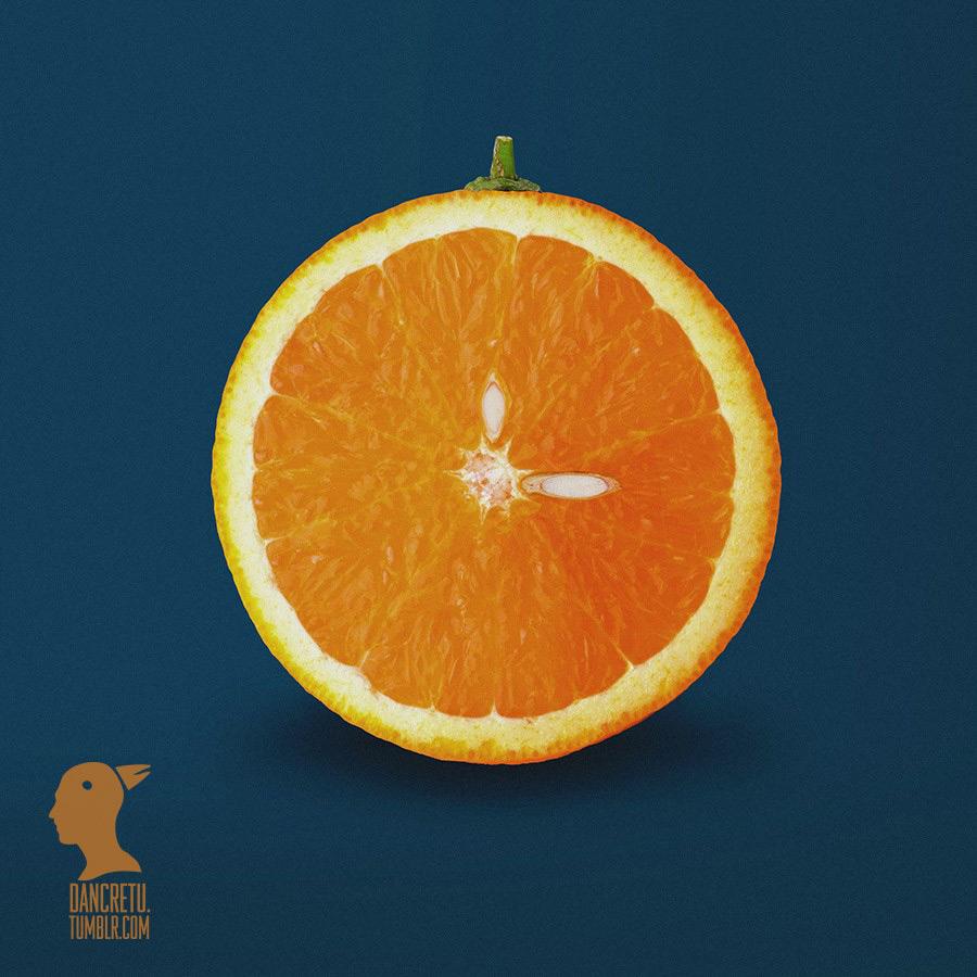 cretu-orange-clock