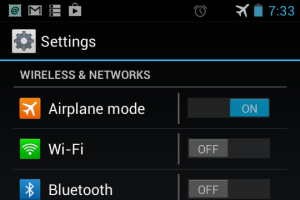 Turn-on-the-airplane-mode