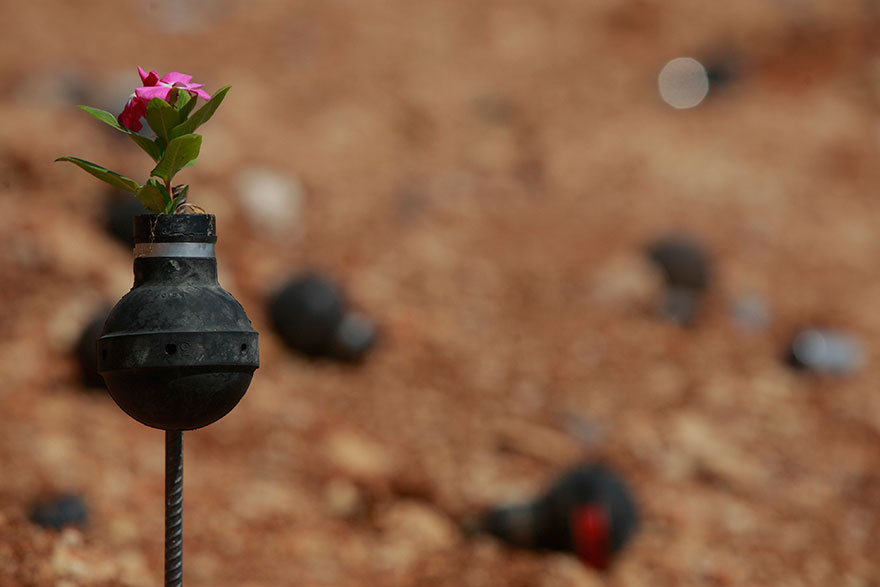 Palestinian-Woman-Plants-Flowers-In-Israeli-Tear-Gas-Grenades-10