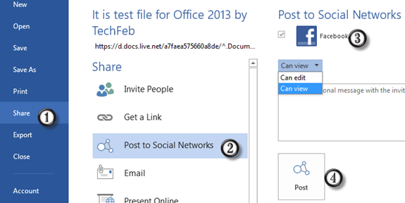 Share-Microsoft -Office-2013- Documents-on-Facebook-and-LinkedIn-1