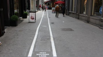 Phone-Addicts-Text-Walking-Lanes-In-Belgium