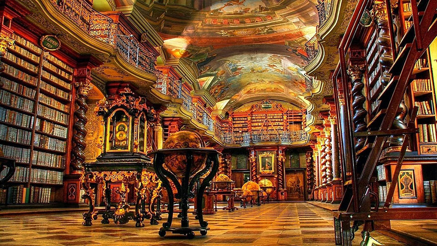 World-Most-Beautiful-Library-klementinum-national-library-czech-republic-6